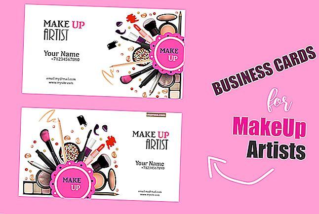 Cara Membuat Kad Perniagaan Artis Makeup
